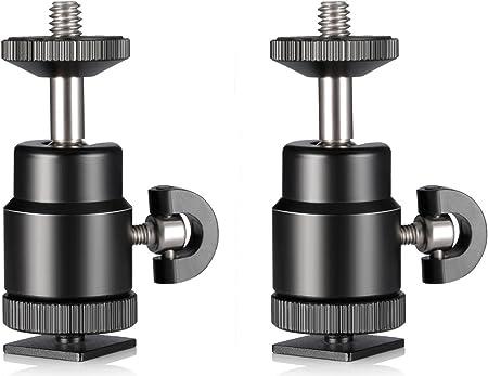 Phot-R Compact Mini 360 /° Swivel Kugelkopf Blitz Hotshoe Adapter und TriFlash.