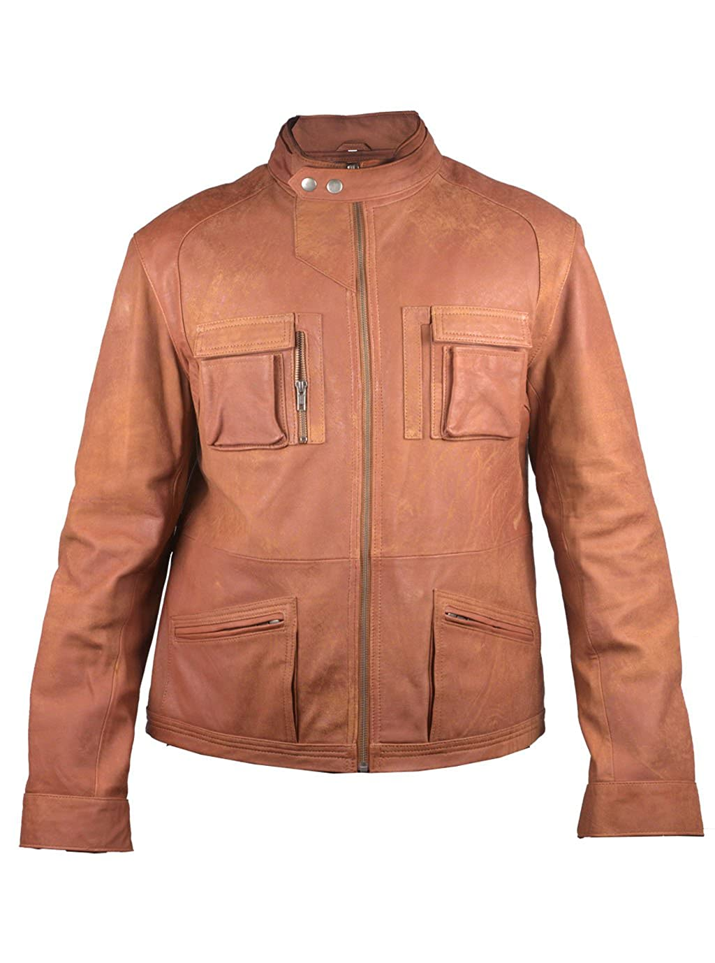 FactoryExtreme Milano Mens Black or Tan Brown Leather Jacket at ...