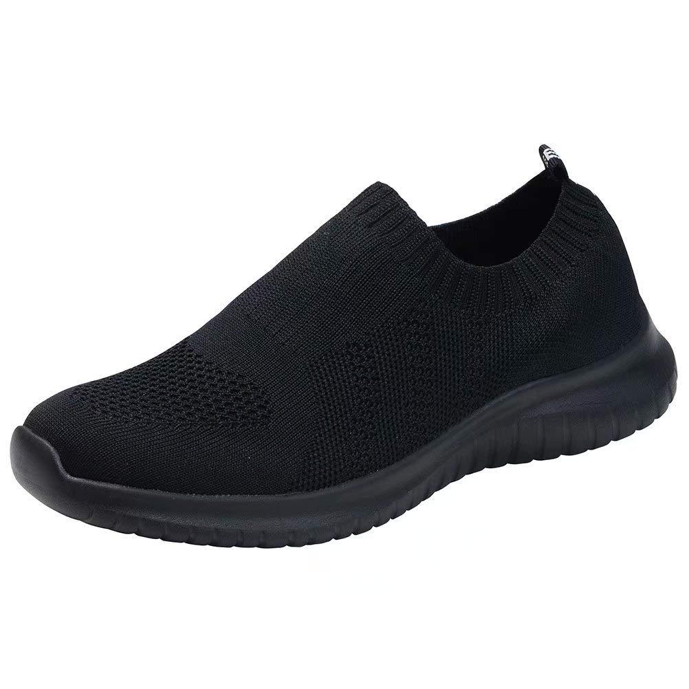 konhill Women's Walking Tennis Shoes - Lightweight Athletic Casual Gym Slip on Sneakers