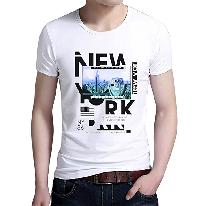 YpingLonk Camiseta Hombre Estampado Moda Manga Corta Delgado Chándal Simple y Cómodo Sudadera Básico de Estilo Tops Suelto Casual Clásico Essential ...