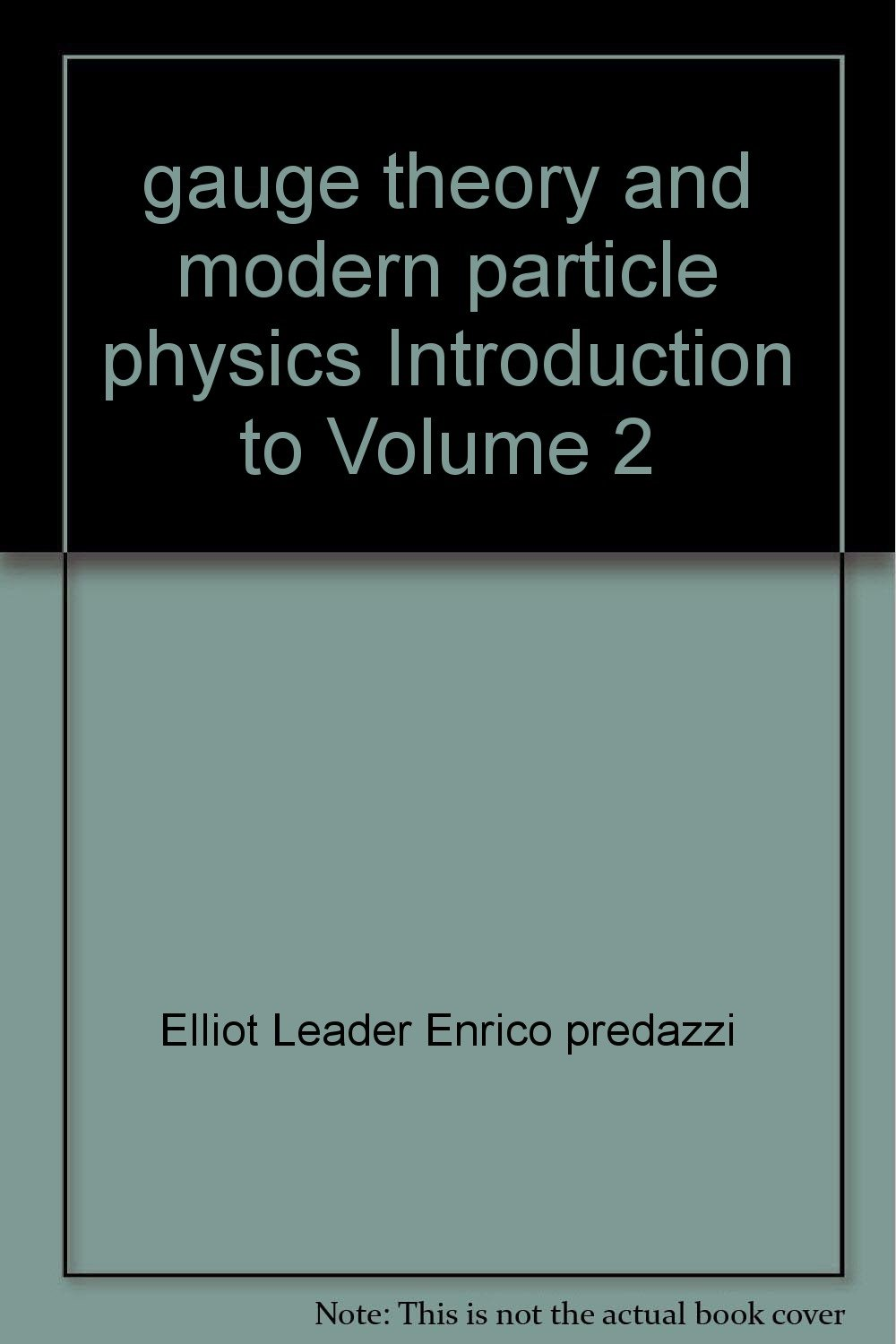 gauge theory and modern particle physics Introduction to Volume 2 pdf