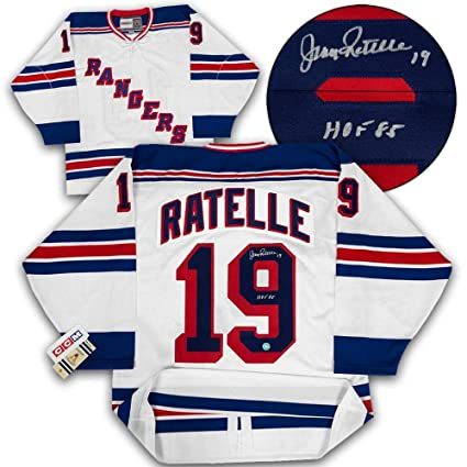 64234cff4 Image Unavailable. Image not available for. Color  Signed Jean Ratelle  Jersey - Original 6 CCM - Autographed NHL Jerseys