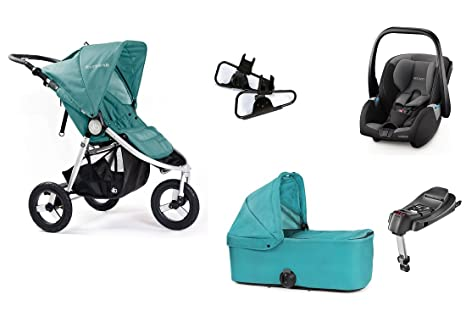 bumbleride cochecito XXL All in One, Indie Camp Green, carrycot, adaptador + Recaro