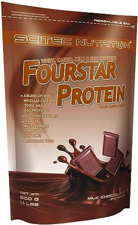 Scitec nutrition fourstar protein, 500gr. mezcla de proteínas de leche y huevo