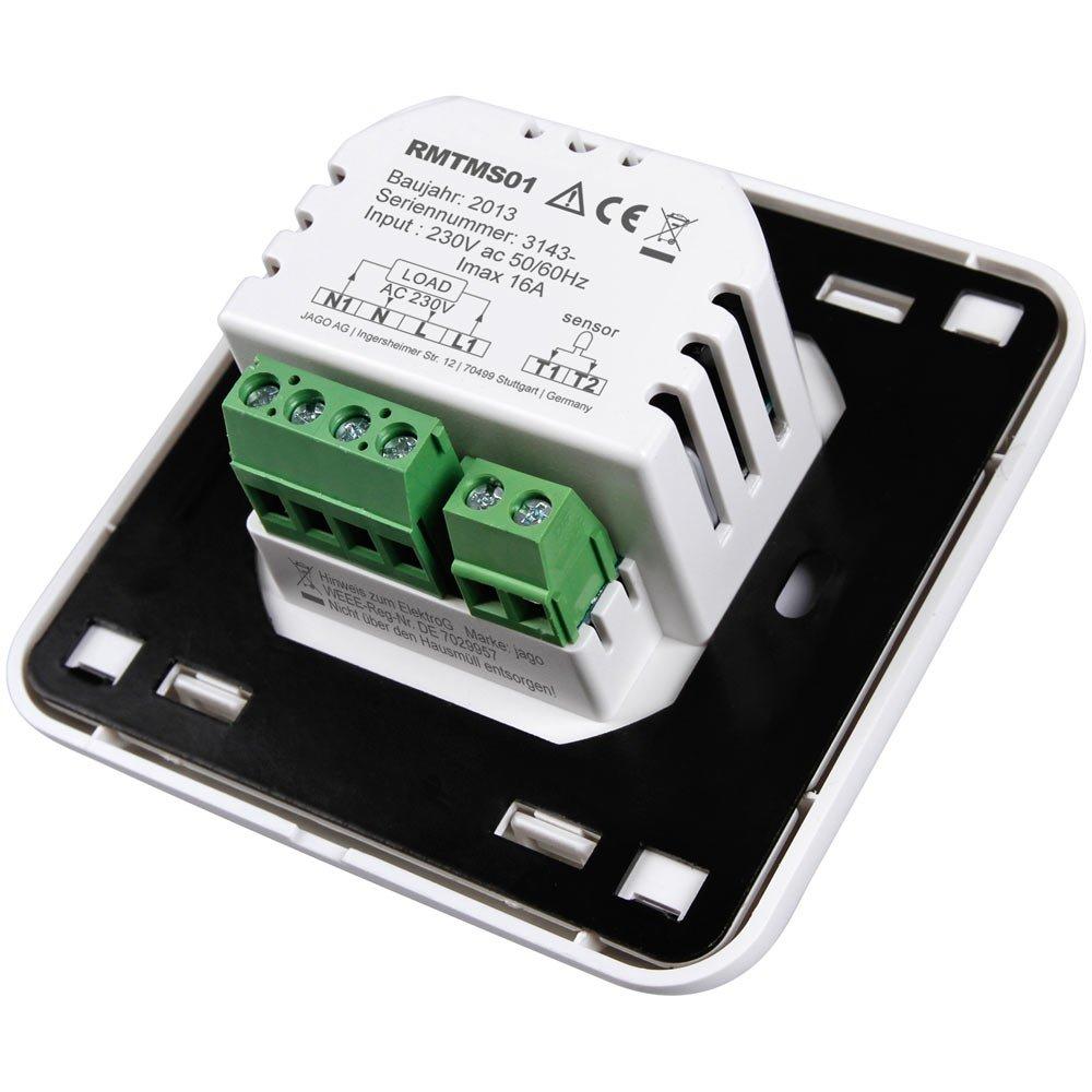 Jago - RMTMS01 - Termostato - Pantalla LCD - Cantidad a elegir: Amazon.es: Bricolaje y herramientas