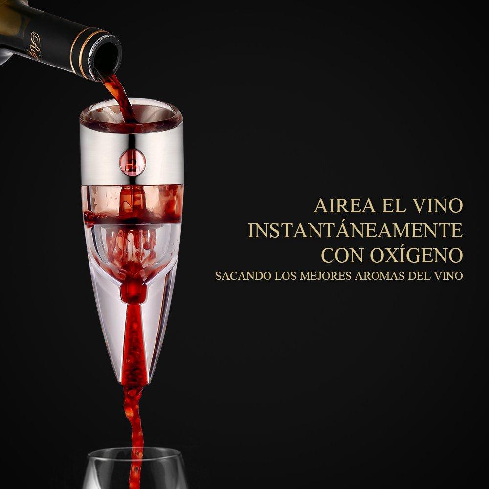 Jerrybox WA-03 Decantador de Vino Tinto, Aireador de Vino con Vertedor | Regalo de Lujo | Dispensador de Vino para tu Casa, Bar, Fiesta: Amazon.es: Juguetes ...