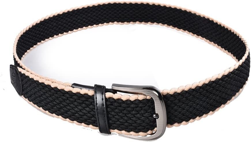 Glamexx24 Unisex Elastic Fabric Belt Braided Stretch Belt Stretchable belt for women and men