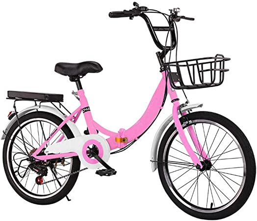 Compacta For Bicicleta Mujer Con La Bandeja Trasera, Cesta Grande Y Confort Montar De La Bici,
