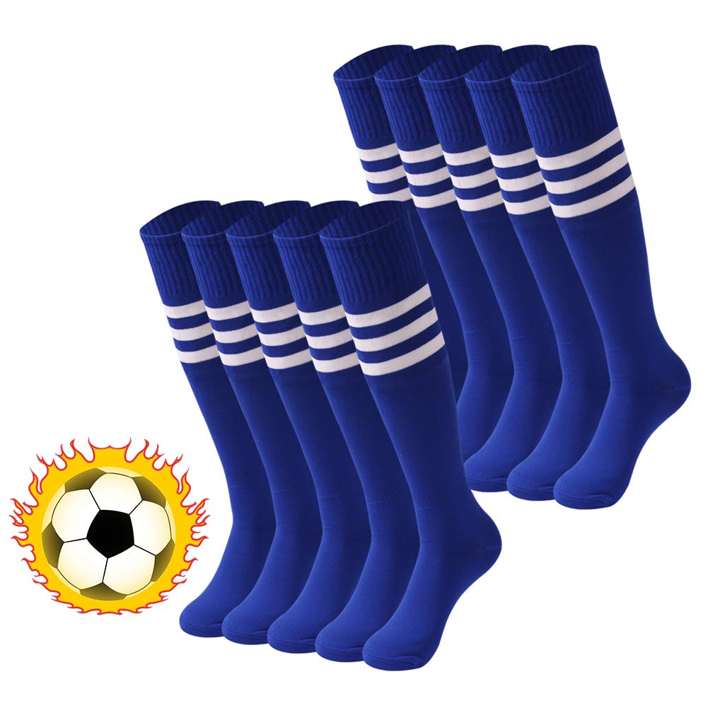 Striped Tube Socks saounisi Unisex Knee High Soccer Football Volleyball Baseball Cheerleading Team Socks 2//6//10 Pairs saounisi Colored Novelty Striped Holiday Gifts Knee High Socks 10 Pairs Red