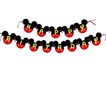 Amazon.com: Mickey Mouse Birthday Banner | Mickey mouse Birthday ...