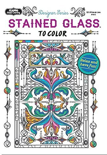 Adult Coloring - Designer Series - Stained Glass by Kappa Books Publishers - Kappa Glasses