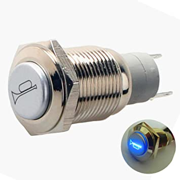 Yiyida Hupentaste 12 150 Autotaste Signalhorn 12 V Wasserdicht Druckschalter Aus Metall Auto