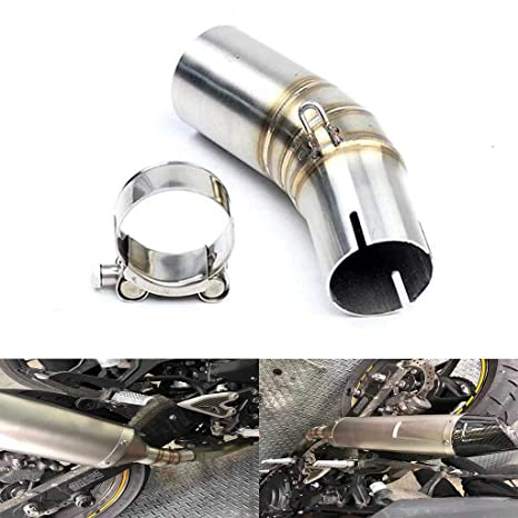 Amazon.com: Motorcycle 51mm Middle Part Slip-on Exhaust Pipe ...
