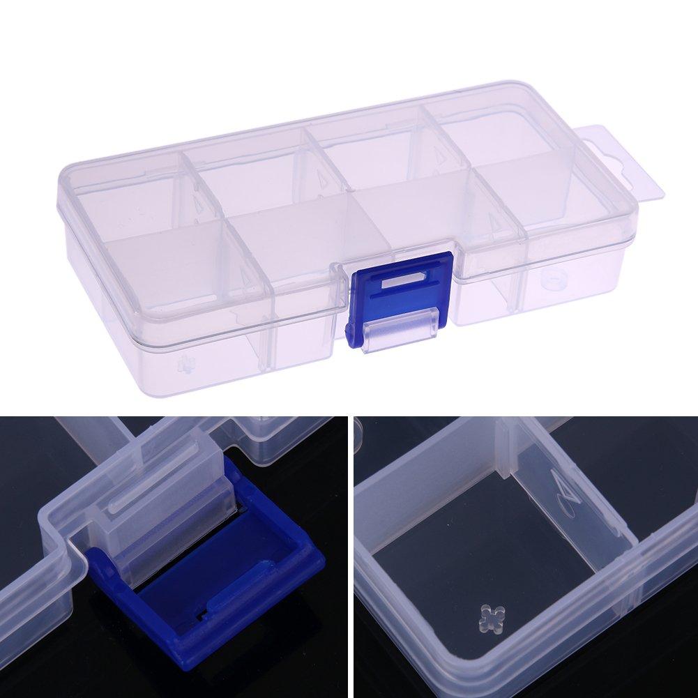La Cabina R/églable 8 Compartiment Bo/îte de Rangement en Plastique Cas de Boucle