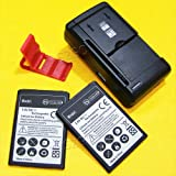 High Capacity LG Risio Battery:[2*Batteries + 1*Charger] 2