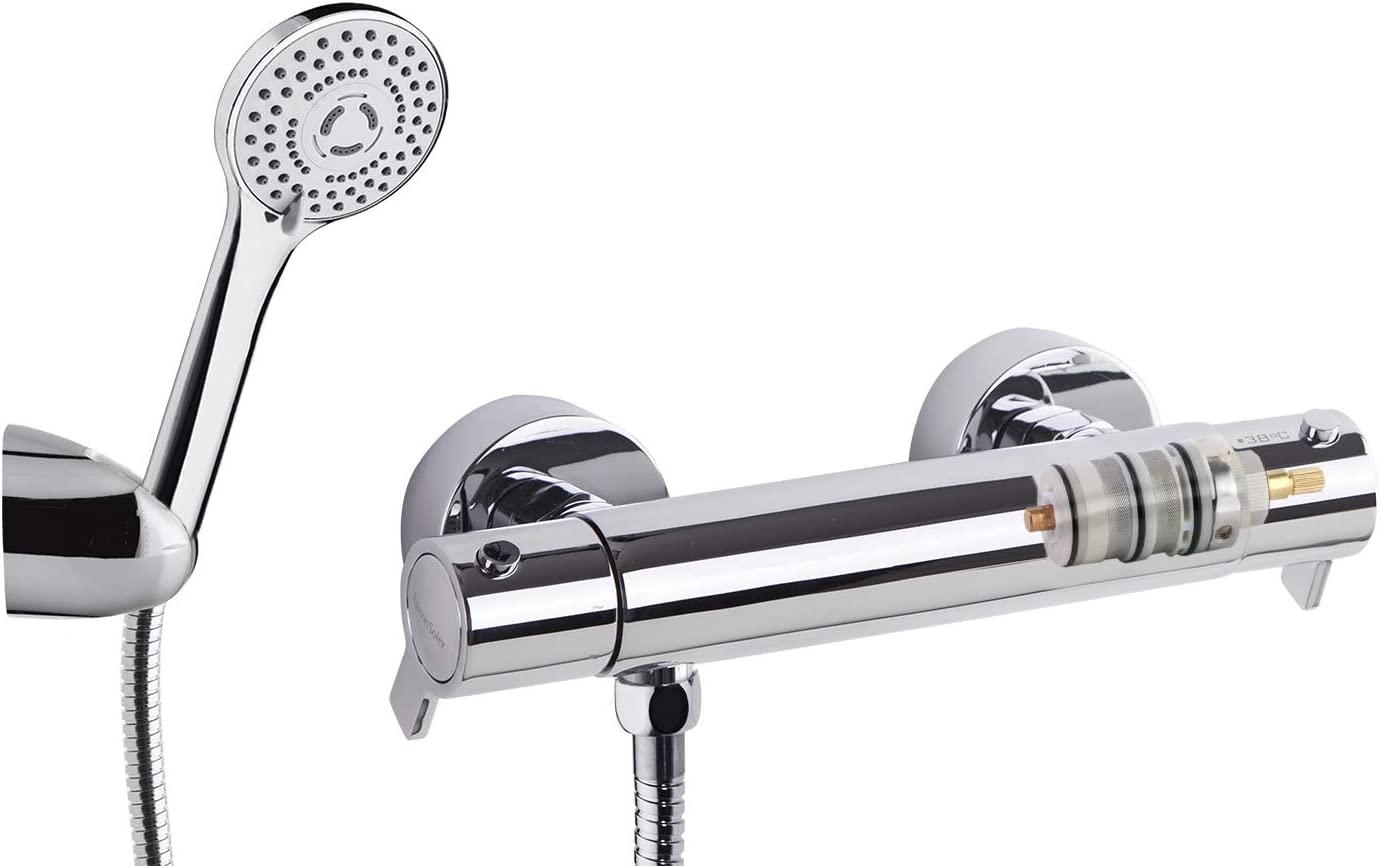 Ramón Soler - Kit ducha termostática blautherm + soporte + ...