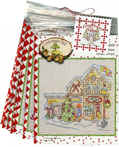 Gingerbread Square Christmas Full Set by Meg Hawkey From Crabapple Hill Studio #2521 - 9 Embroidery ()