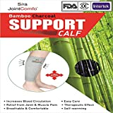 Sira Bamboo Charcoal Calf Sleeve,Outdoor Sports, Protector,Running,Calf Guard Shin Splints Sleeves,Great for Running,Baseball,Walking,Cycling,Training,Travel- Boosts Circulation - Aids Faster Recovery