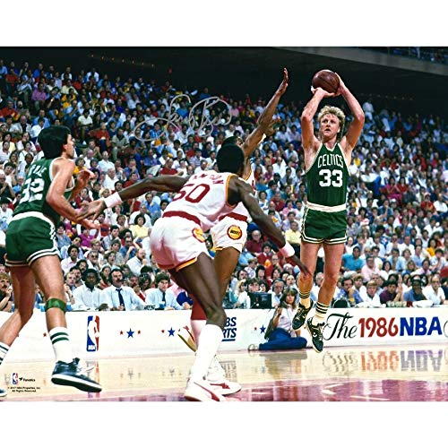 Larry Bird Boston Celtics FAN Autographed Signed 16x20 1986 Nba Finals Photograph - Certified Signature