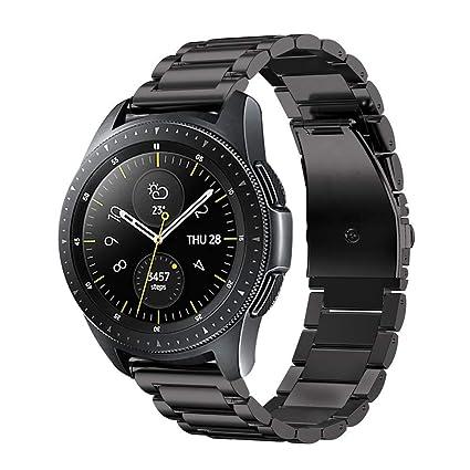 Fintie Correa para Samsung Galaxy Watch Active2/Galaxy Watch Active/Galaxy Watch 42mm/Gear Sport/Gear S2 Classic - 20mm Pulsera de Repuesto de Acero ...