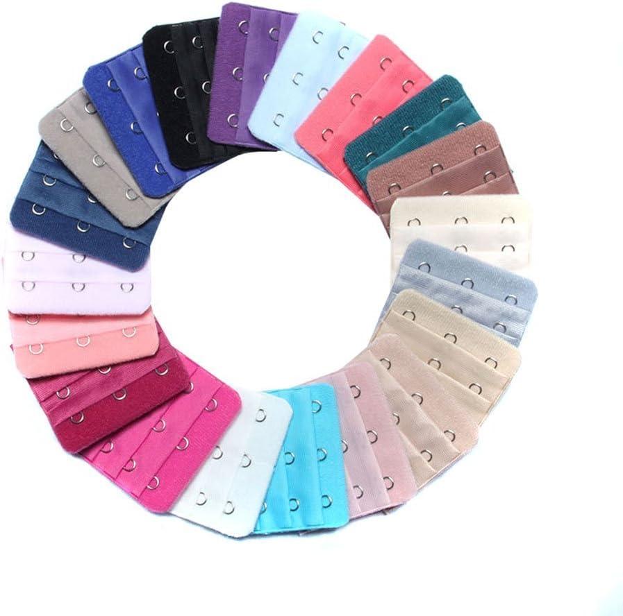 Inserti posteriori per estensione reggiseno con 3 file da 3 ganci in colori assortiti inserti con ganci per allargare i reggiseni confezione da 10 pezzi