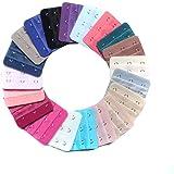 Cinghia di estensione per reggiseno, con 3ganci e 3file, colori assortiti