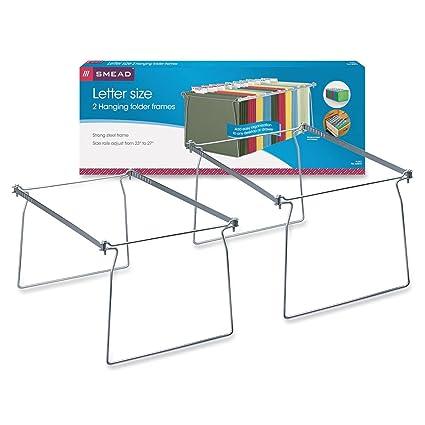 Superbe Smead Steel Hanging File Folder Frame, Letter Size, Gray, 2 Per Pack (