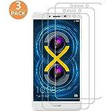 [3-Pack] Pellicola Protettiva per Huawei Honor 6x, Pellicola Vetro Temperato Huawei Honor 6x Screen Protector Film Ultra Resistente ( 0.26mm HD Alta Trasparenza) per Huawei Honor 6x