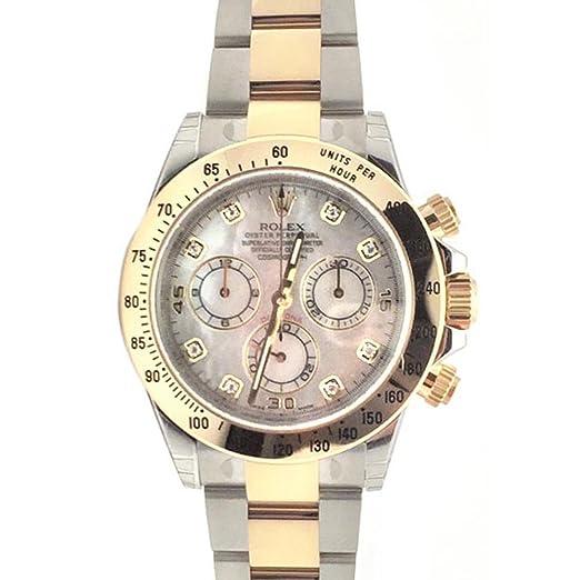 Rolex Cosmograph Daytona 40 madre de perla diamante Dial dorado reloj de pulsera 116503: Amazon.es: Relojes