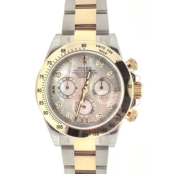 Rolex Cosmograph Daytona 40 madre de perla diamante Dial dorado reloj de pulsera 116503