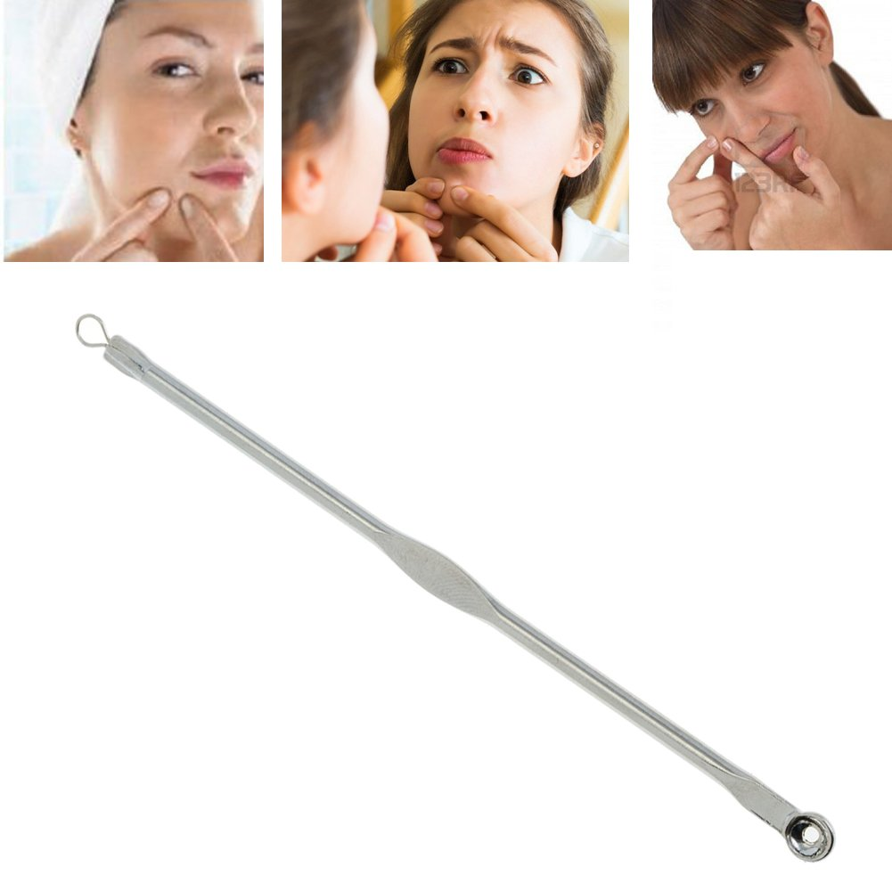 Amazing Offer High Quality 2pcs Facial Care Set With Stainless Steel Eye Hole Design And Needle Blackheads Removers / Acne Pimples Extractors / Removing Tools By VAGA