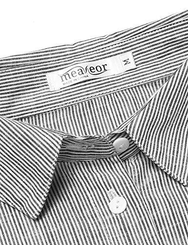Pinstripe Manches Boutonnage Blouse Haut Longues lgant Blouse Revers Mode Battercake Printemps Simple Confortable Casual Chemise Schwarz Femme Dame Branch Shirts x47BnwYwq