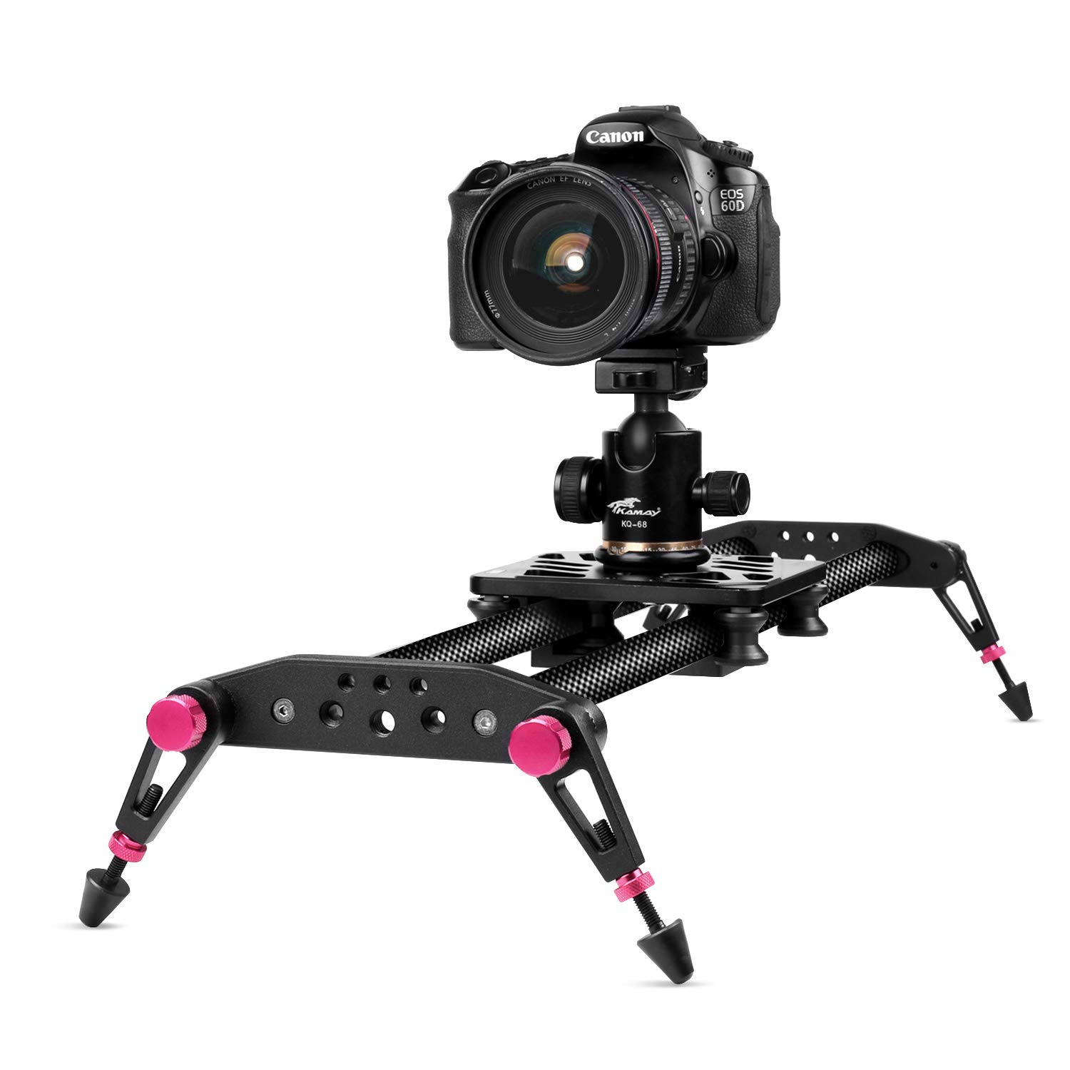 TNP 40 inches / 100cm Camera Slider for DSLR, Carbon Fiber Dolly Track Video Stabilizer Rail System with 26.5lbs / 12kg Loading, 6 Roller Bearing for Cinematic Film Video Footage Studio Photography by TNP Products