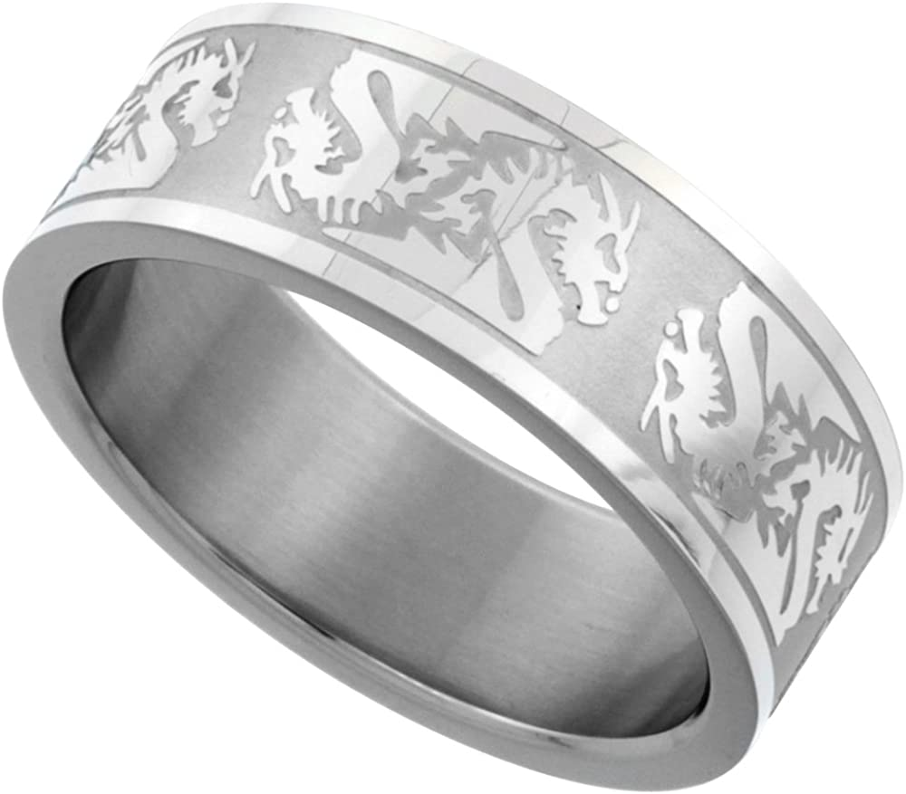 Ring Size 12 Security Jewelers Tungsten 8mm Satin Finished Ridged Band with Rounded Edge Size 12