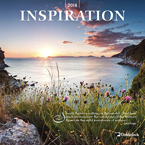 "Goldistock ""Inspiration"" Eco-friendly 2018 Large Wall Calendar - 12"" x 24"" (Open) - Thick & Sturdy Paper - A New Year for New Inspiration"