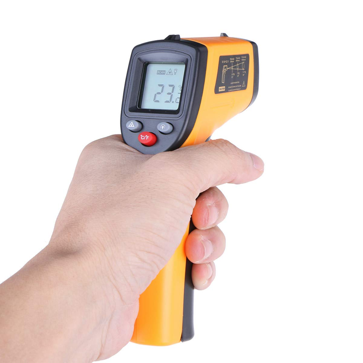 PCEPEIVK Non-Contact Digital LCD Infrared Thermometer Gun IR Laser Point Thermal Infrared Imaging Temperature Handheld Meter Pyrometer