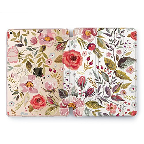 Wonder Wild Red Poppies Print Case IPad 9.7 2017 A1822 A1823 2018 A1893 A1954 Air 2 A1566 A1567 6th Gen Clear Design Smart Hard Cover Purple Flower Red Poppy Pastel Pink Cute Painted for Girls Women