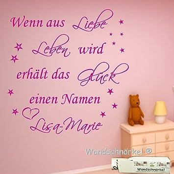 High Quality Wandschnörkel® Wandtattoo Mit Namen Nach Wunsch~ Wenn Aus Liebe Leben Wird  ~ Spruch Kinderzimmer