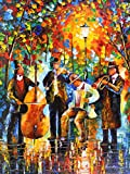 GLOWING MUSIC (48 x 36) is an Original Oil Painting on Canvas by Leonid AFREMOV Picture