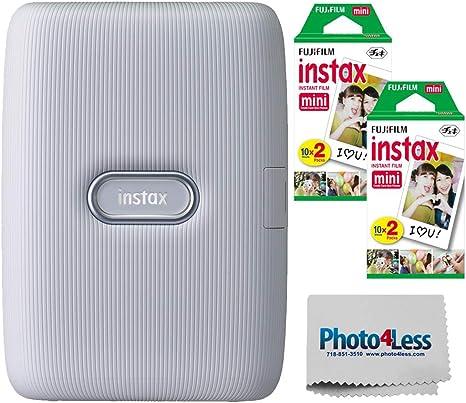 Fujifilm Instax Mini Link Smartphone Impresora + Fuji Instax Mini Film (40 Hojas): Amazon.es: Electrónica