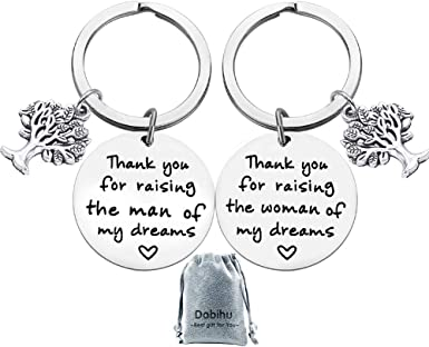 Mother of The Bride Mothers Day Gift Mother Gift Mother of Bride Gift Thank You for Raising The Woman of My Dreams Keychain Wedding Gift