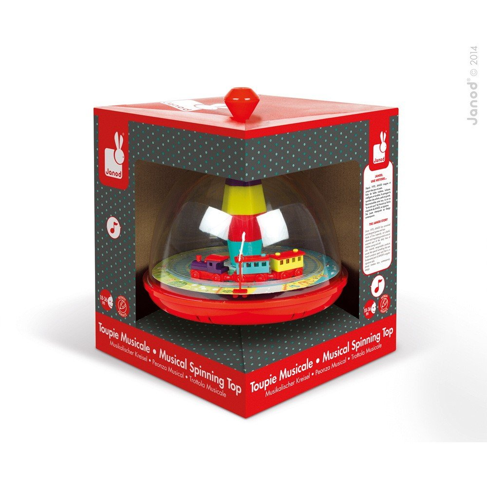 Janod Musical Train Spinning Top