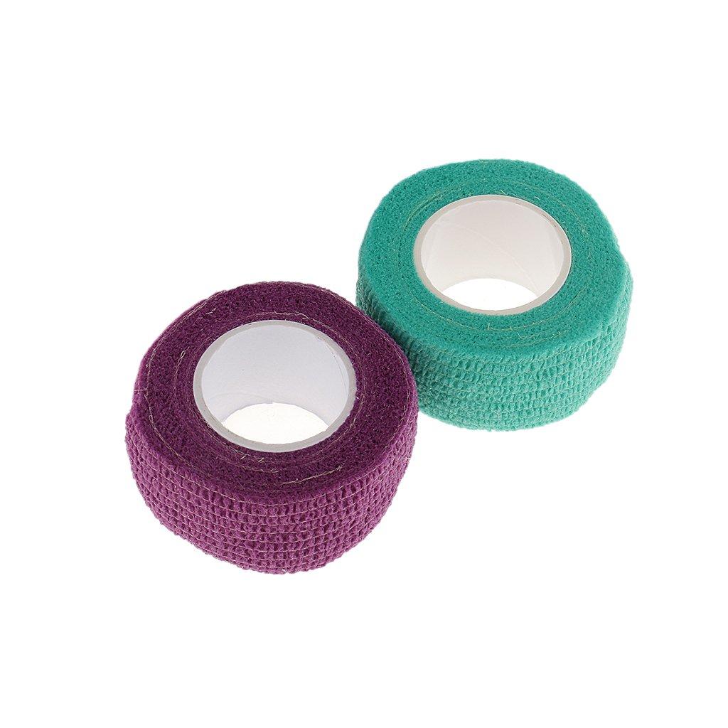 Sharplace 2pcs Flex Wrap Finger Skin Protect Manicure Bandage Nail Art Care Adhesive Tape Rolls - Random Colors