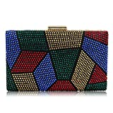 Yekajlin Clutches Bag for Women, Crystal Sparkly Evening Clutch Bag Rhinestone Glitter Clutch Purse (M)