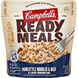 Campbell's Ready Meals, Homestyle Noodles & Beef in a Creamy Mushroom Sauce...