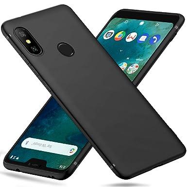 Peakally Xiaomi Mi A2 Lite Case, Black TPU Cover Phone Case Matte Finish  Slim Profile Phone Protectors for Xiaomi Mi A2 Lite-Black