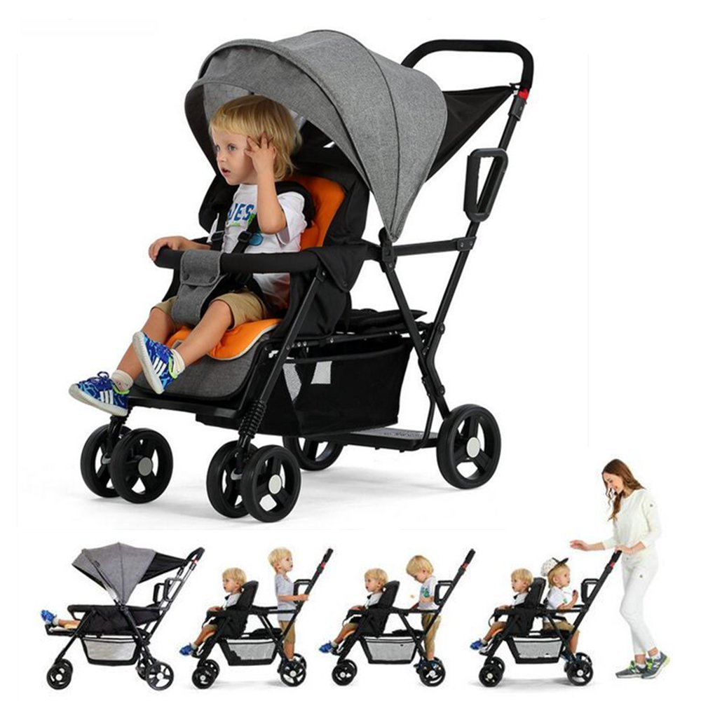 Stand And Ride Stroller For Two Children Tandem Stroller Pram Foldable Twins Stroller-In Mutiple Stroller From Mother /& Kids,Babies Strollers,Kid Stroller,Children Stroller,Baby Pram,Baby Carriage