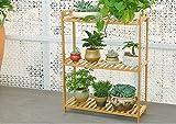 Bamboo multi-storey flower rack ( Size : 1002590cm )