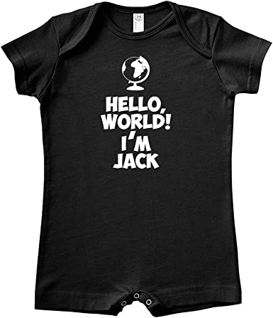 Personalized Name Baby Romper Mashed Clothing Hi My Name is Jake Everyone