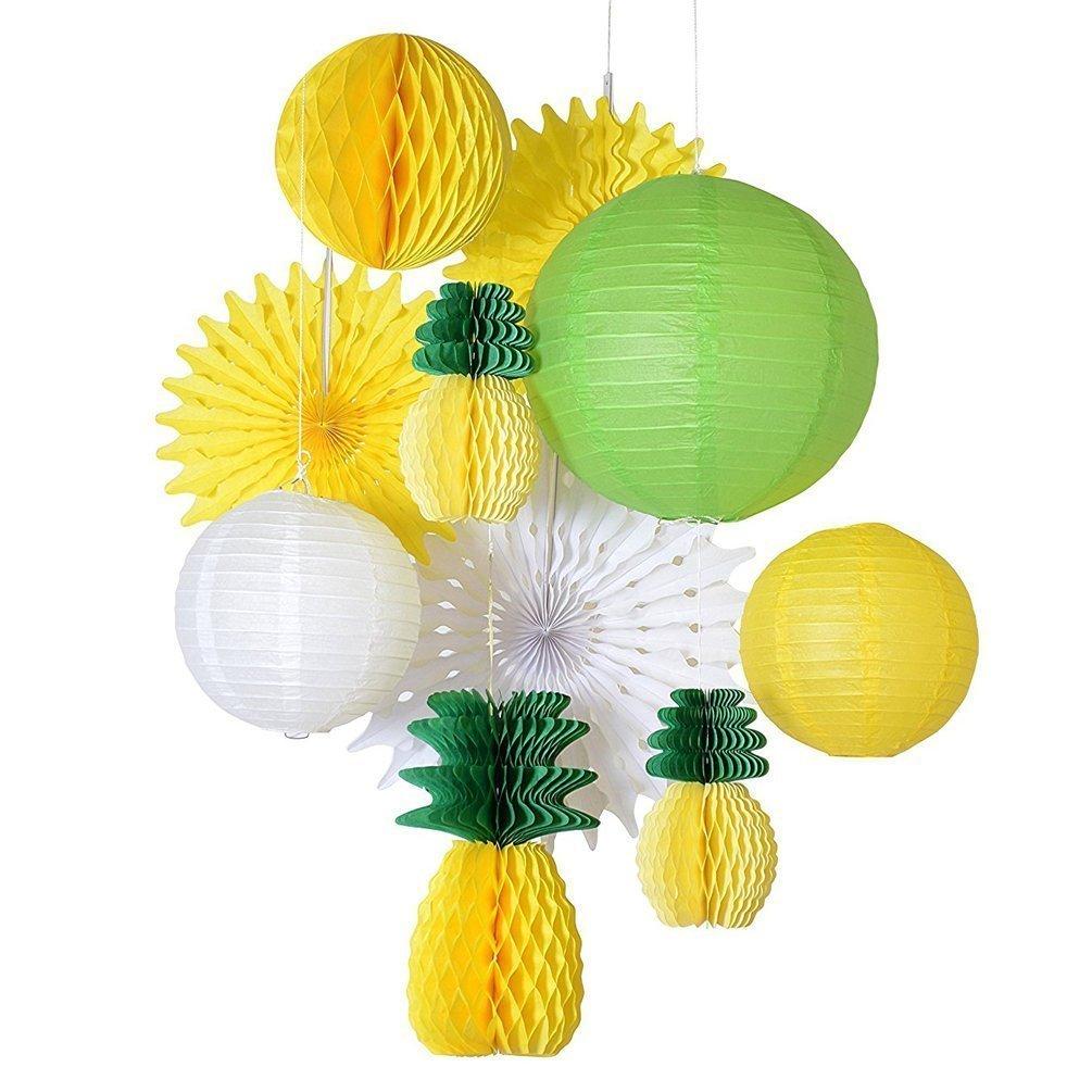 SUNBEAUTY Decorazione per Festa d'Estate, Decorazione con Ananas, Decorazione Interno, Compleanno, Anniversario, Matrimonio